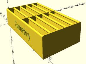 Parametric game cart tray