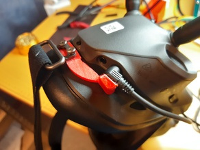 Power cable locking for DJI FPV goggles