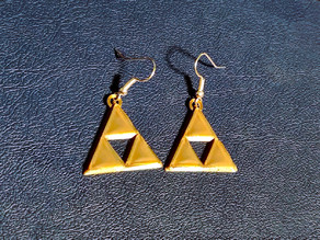 Triforce Earrings with Beveled Edges