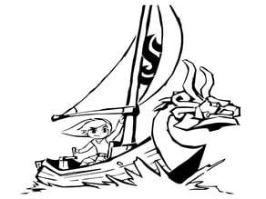 Toon Link stencil 3