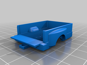 1/64 dually truck bed tailgate down
