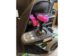 Joystick attachment and armrest cover for electric wheelchairs