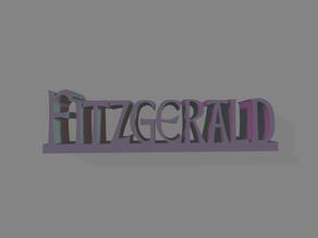 Fitzgerald Name Sign / Nameplate