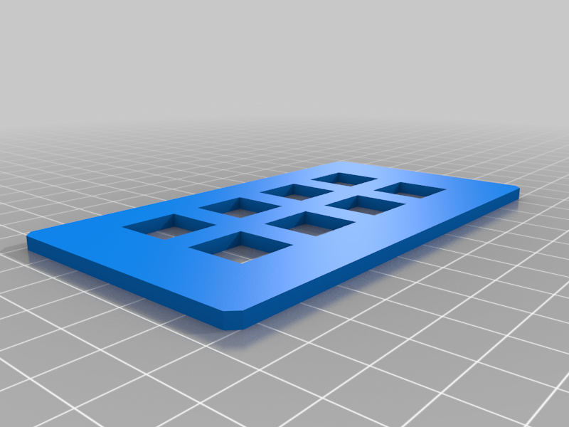 WASD / 8 Buttons - CherryMX Switch Plate