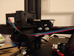 Direct drive E3D Titan extruder with part cooling fan conversion