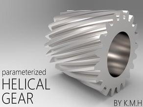 Helical external gear