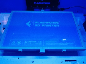 Glass Plate Corner Brackets for Flashforge Inventor 3D Printer (Second Remix)
