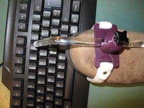 Pointer support for the foot/Soporte para trabajar con el pie
