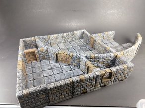 OpenForge 2.0 Dungeon Stone Large Curved Exterior Walls