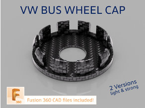 VW Bus wheel nuts cover cap