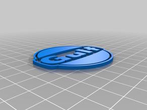 Gulf Racing 3D Logo
