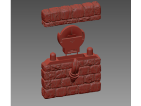 OpenForge Stone Flicker LED Torch Wall - Simplified