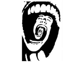 Trapped inside a scream stencil