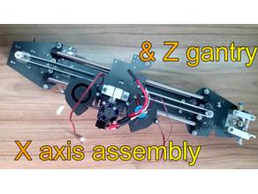 Z gantry & x axis for 3-in-1 3d printer cnc hybrid