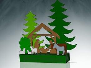 Christmas Crib - Weihnachtskrippe 4 Slots