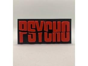 PSYCHO movie logo wall plaque art