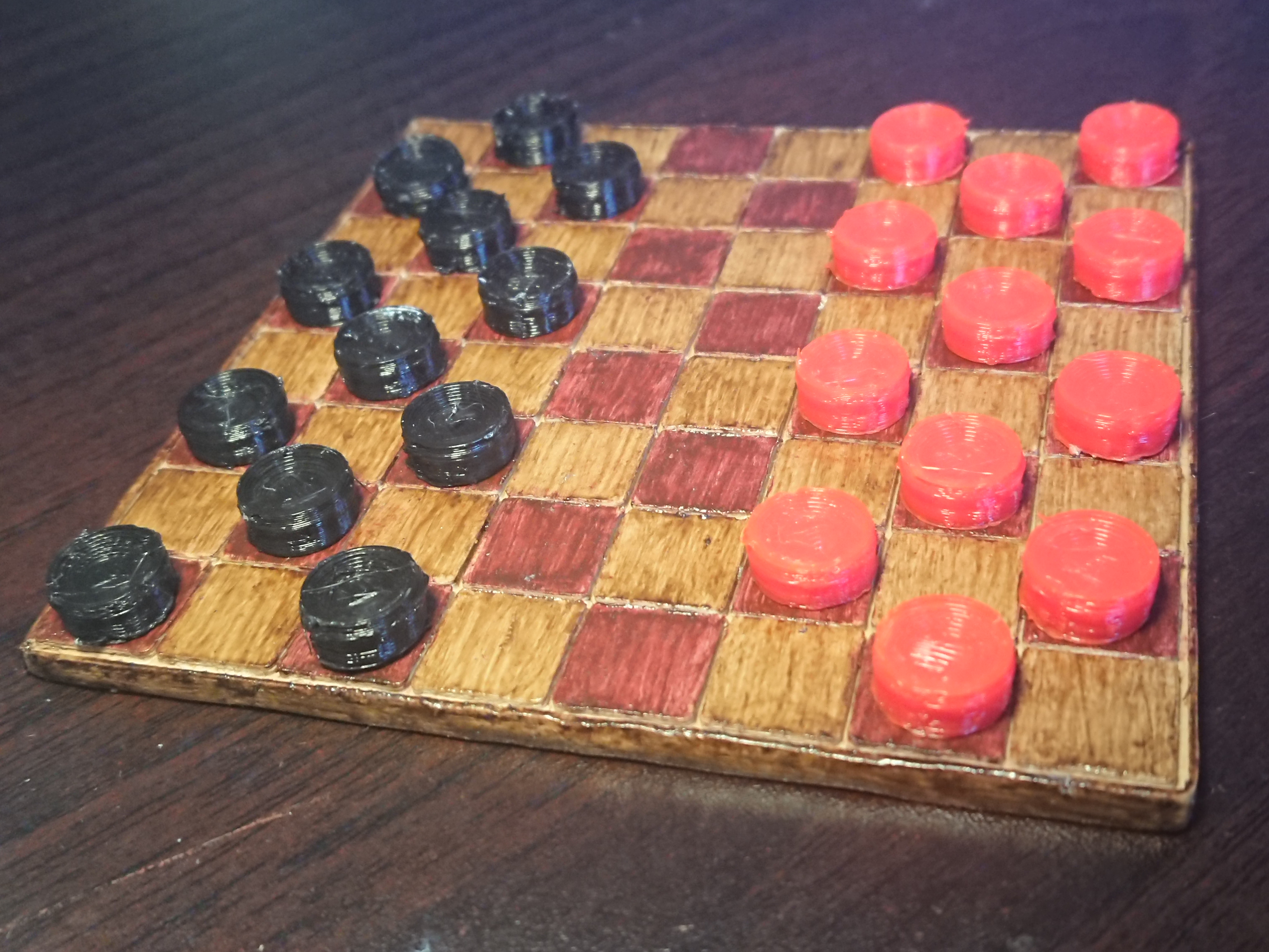 Magnetic Checkers Set | Miniature sized with magnets tabletop classic game