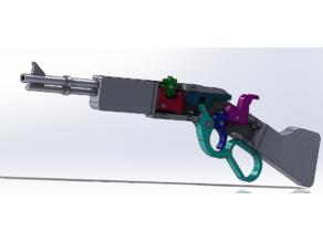 Lever Action rubber band gun