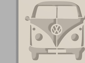 VW bus airbrush stencil
