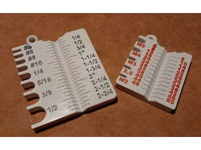 Imperial & Metric Screw Gauge with holder