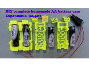 DIY complete homemade AA battery case, expandable, failsafe