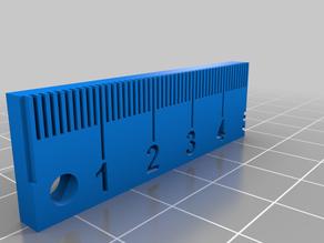 Keychain Ruler 50mm