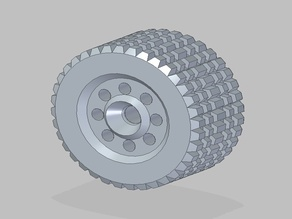 RC Snow Wheel 60x120mm 12mm hex