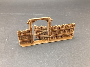 Wooden Fences for 28mm miniatures gaming