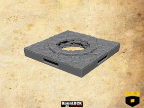 Ancient open manhole floortile by - 3Dlayeredscenery