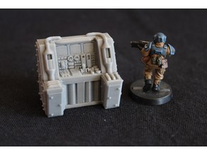 Sci-Fi Computer Terminal (No2) - Fallout Style (ish) / 40k Scatter Terrain