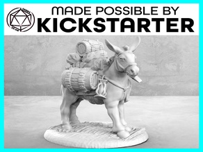 Pack Mule - Casual Pose - Tabletop Miniature