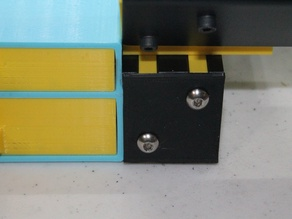 Ender3 (and others) 4040 extrusion endcap using original hardware from the printer
