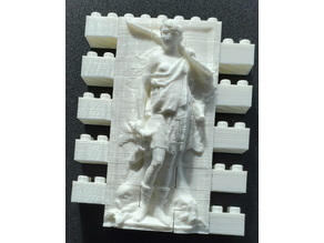 Montini Diana Goddess of the Ocean Wall Set (Lego Compatible)