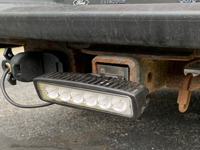 Receiver Mounted Backup Light Mount