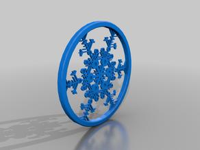 Snow Flake Drink Coaster