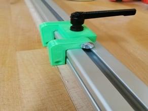 Stop cross-cut saw
