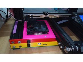 SKR 1.3 case for Creality Ender 3 with 80mm cooler