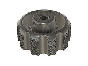 M4 Knurled Bed Leveling Knob for Ender 3 (Parametric Fusion 360)
