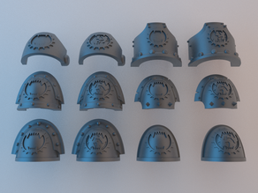 (Chaos) Space Marine Shoulder Pads - World Eaters