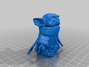 Mandalorian Baby Yoda (Removable Helmet)