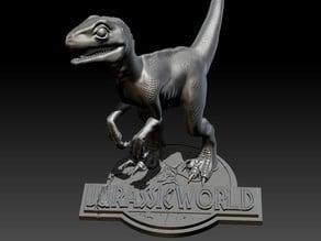 Baby Blue Velociraptor from Jurassic World