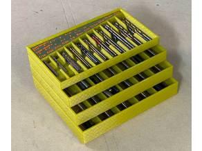 Drill Bit Organizer Trays