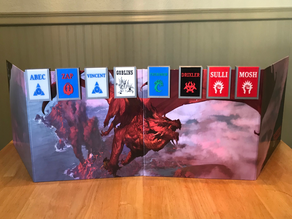 D&D DM Screen Initiative Trackers (Supportless and Modular)