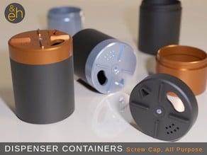 Dispenser Container - Screw Cap, All Purpose
