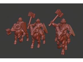 Dwarf Knight Goat Cavalry Miniatures