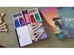 Canvas Board Game Box Insert Organizer