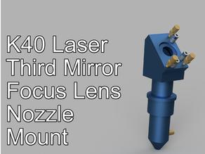 K40 Laser third 3rd mirror, focus lens, nozzle mount