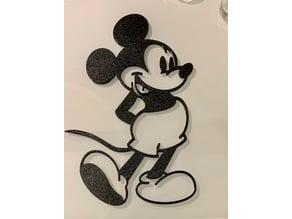 Mickey Mouse 2D WallArt