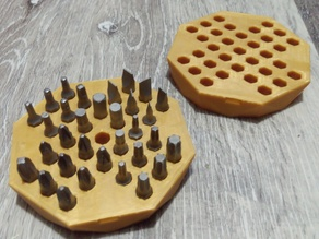 Hex bit holder / Peg solitaire