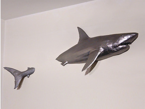 Mural great white shark for 220x220 bed